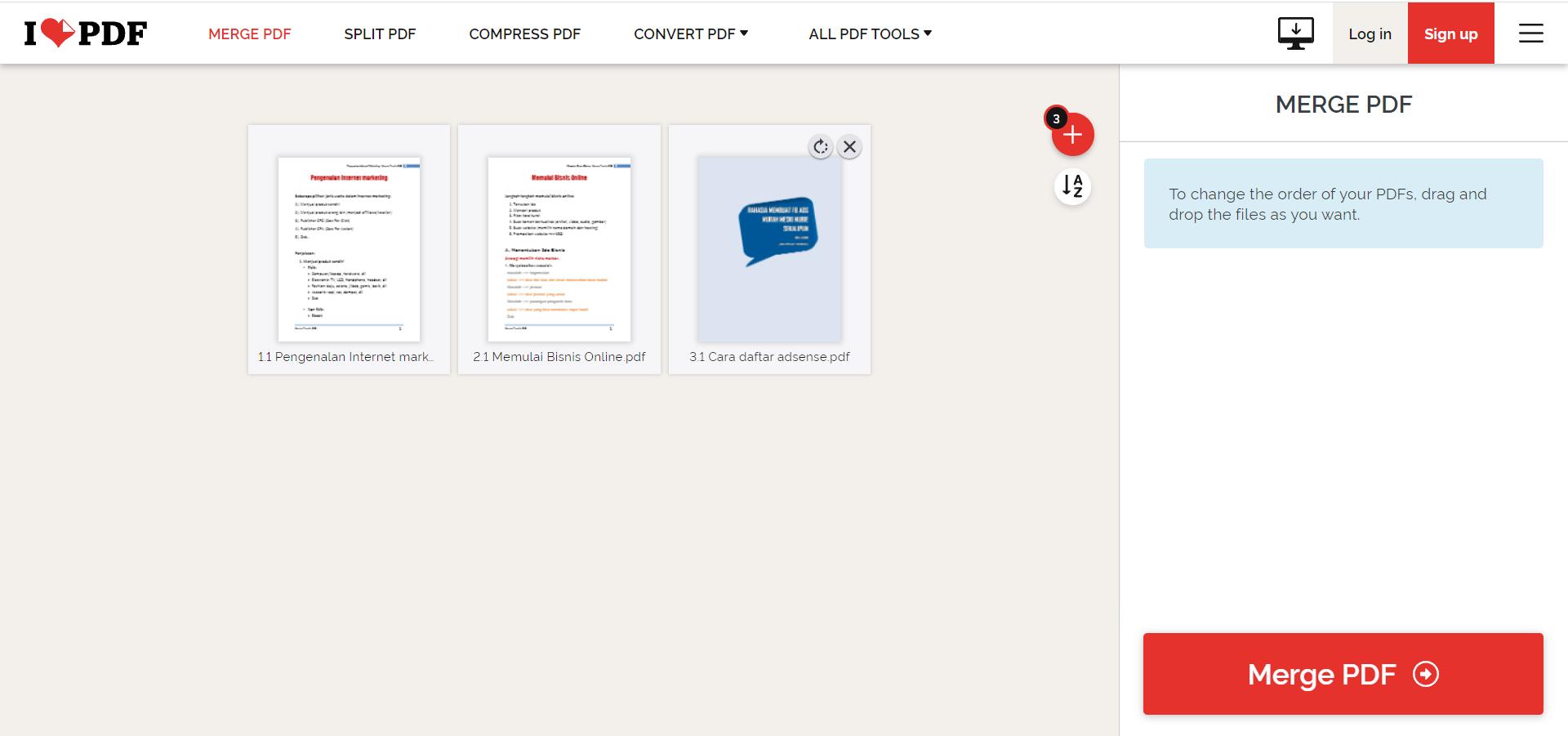 Cara Menggabungkan Beberapa File PDF Menjadi Satu